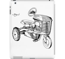 Toy Tractor Patent Drawing iPad Case/Skin