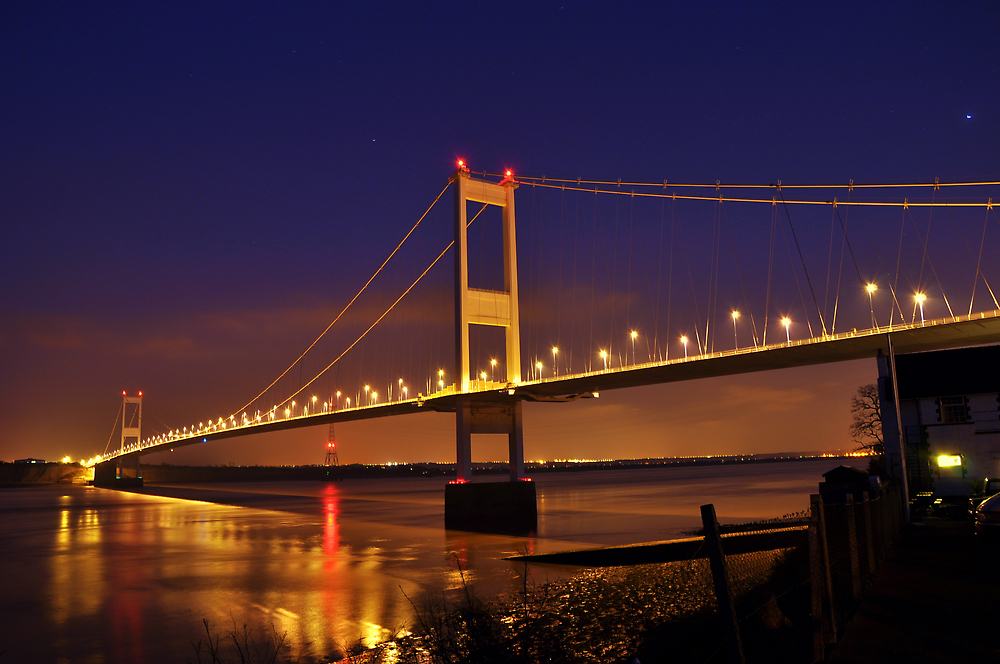 Severn Bridge from Beachley by Kevin Cotterell