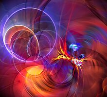 Late Flight  - colorful digital abstract art  by gp-art