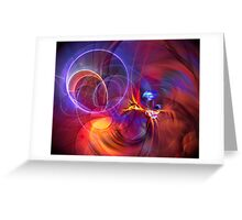 Late Flight  - colorful digital abstract art  Greeting Card