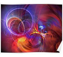 Late Flight  - colorful digital abstract art  Poster