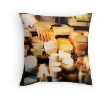 Fromage, Montmartre Throw Pillow