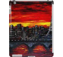 Red Sky over Paris iPad Case/Skin