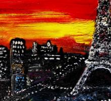 Red Sky over Paris Sticker