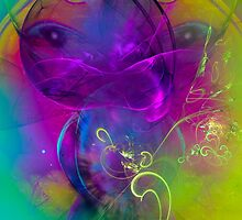 Kitten  - colorful digital abstract art  by gp-art