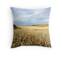 South Downs Gold Throw Pillow