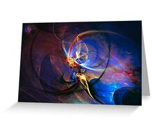 Journey of the soul - colorful digital abstract art  Greeting Card