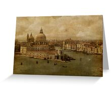 Vintage Venice Greeting Card