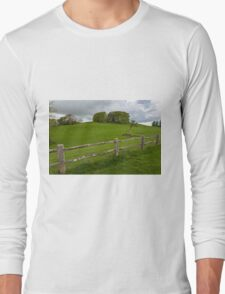 Rustic wooden fence Long Sleeve T-Shirt
