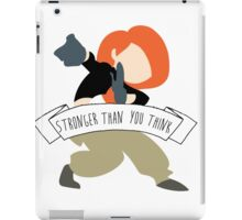 Kim Possible - Stronger Than You Think iPad Case/Skin