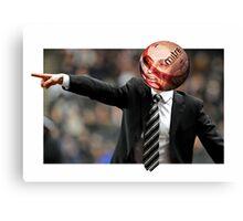 He's Football Crazy Canvas Print