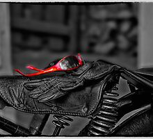 Gloves and Glasses Classic Motorbike by Doreen Erhardt