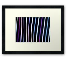 Stripes in Motion #1 Framed Print