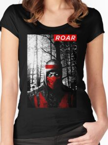 Roar Injustice Women's Fitted Scoop T-Shirt