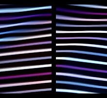 Stripes in Motion - Diptych by Kitsmumma