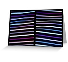Stripes in Motion - Diptych Greeting Card