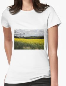 Rapeseed fields Womens Fitted T-Shirt