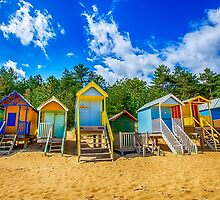 Coloured Beach Huts by Chris Thaxter