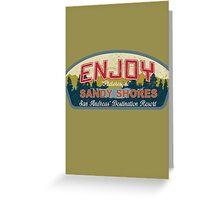 Enjoy Sandy Shores Greeting Card