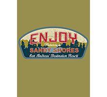 Enjoy Sandy Shores Photographic Print