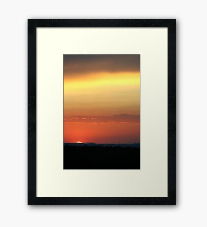 Cima Dome Sunset Framed Print