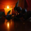 Gumnuts Glowing in Candle Light by Lozzar Flowers & Art