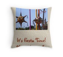Fiesta Time Invitation Throw Pillow