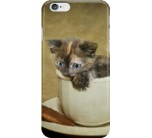 Having a 'Cat'puccino on the way to 'Cat'mando  iPhone Case/Skin
