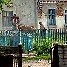 Scene from the village of Bieleh in Ukraine by Yuri Lev