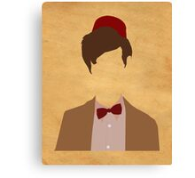 11th Doctor minimalist art Matt Smith Canvas Print