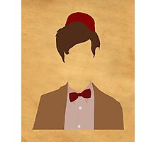 11th Doctor minimalist art Matt Smith Photographic Print