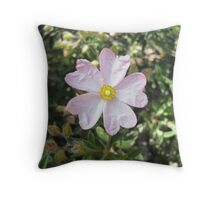 Beautiful Detailed Pink Flower Throw Pillow
