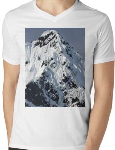 Sunny Snowy Mountain With Blue Sky Mens V-Neck T-Shirt