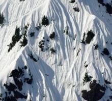 Sunny Snowy Mountain With Blue Sky Sticker