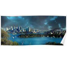 A Digital Sydney Harbour Poster