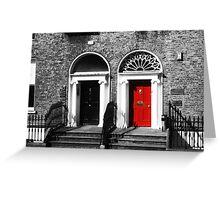 Dublin Doors Greeting Card