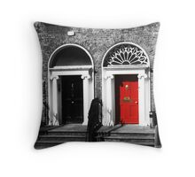 Dublin Doors Throw Pillow