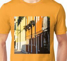 Sunlit colored buildings Unisex T-Shirt