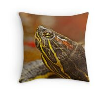 Portrait of a Turtle Throw Pillow