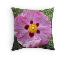 Beautiful Pink Flower Throw Pillow