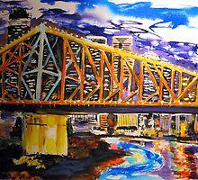 Storey Bridge Brisbane Qld by gillsart