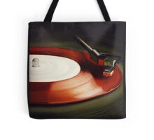 Record Red Tote Bag