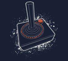 Atari Joystick III White Kids Tee