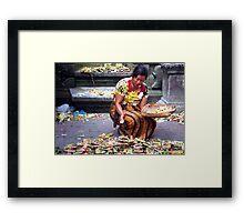 Offerings, Ubud Market, Bali Framed Print
