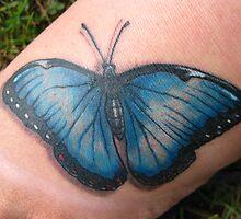 Blue Morpho Tattoo by Tammy F