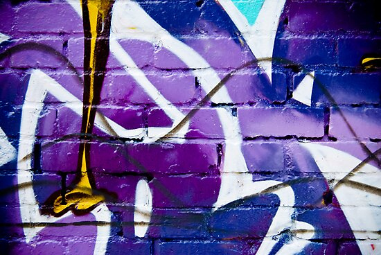 Abstract Graffiti on the textured wall by yurix