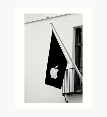 Apple Flag Flying in the Wind Art Print