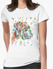 WATERCOLOR BOXER Womens Fitted T-Shirt