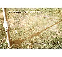 it happens.... Photographic Print