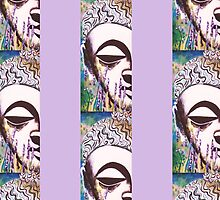 Lavender Buddha 1 by Kevin J Cooper